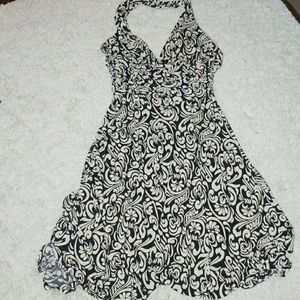 NWT Max and Cleo flowy cocktail  halter top dress